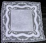 vintage antique wedding brides hankie limerick  lace