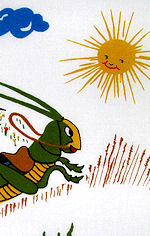 vintage child's grasshopper hanky