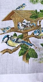 vintage designer hanky blue birds
