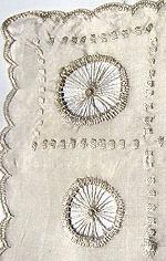 vintage antique handmade silk whitework hanky