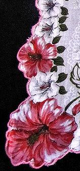 vintage floral print hankie