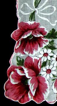 vintage floral print hanky daises