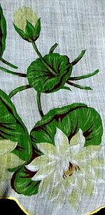 vintage water lilies floral print hanky