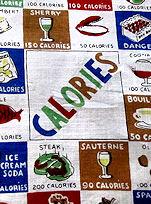 vintage designer calories hanky