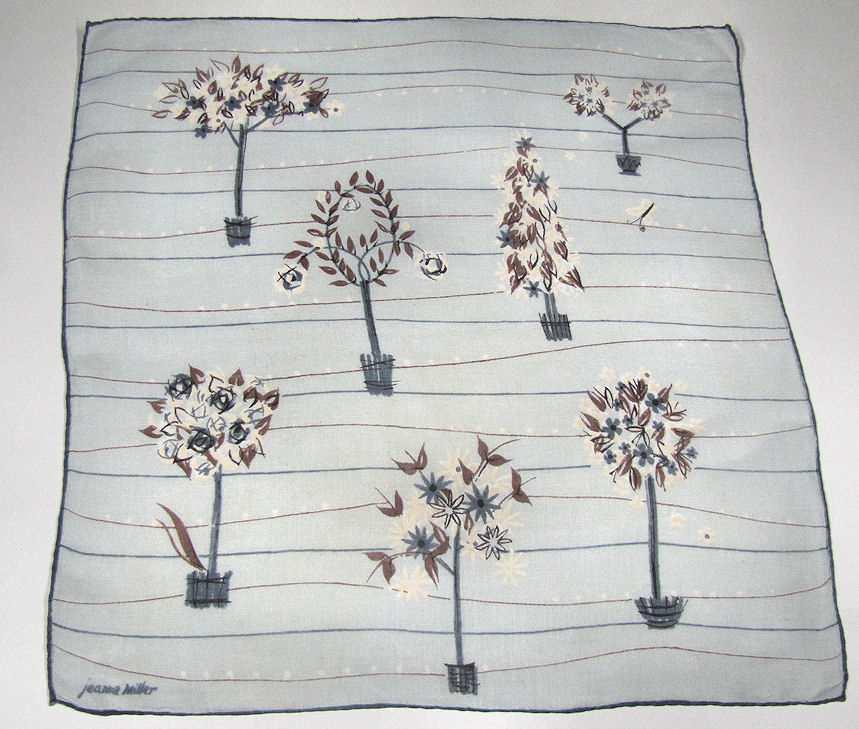 vintage antique Jeanne Miller  ladies handkerchief