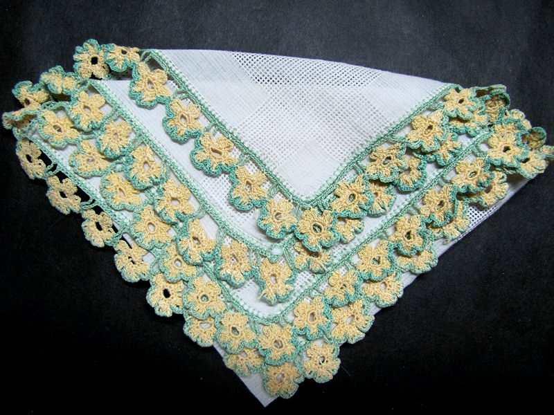 vintage antique handmade lace ladies  hanky