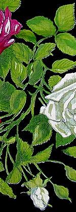 vintage floral print roses hankie