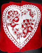 vintage heart folding valentine hanky