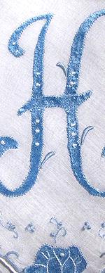 vintage handmade hanky monogrammed H