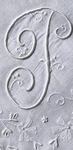 vintage handmade monogrammed T whitework hanky