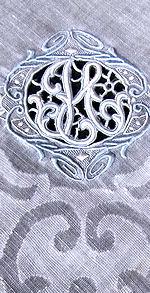 vintage handmade monogrammed H hanky