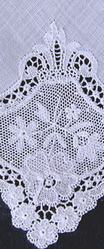 vintage whitework hanky combination lace