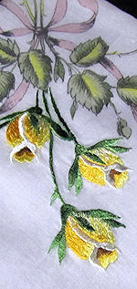 vintage hanky print and embroidered