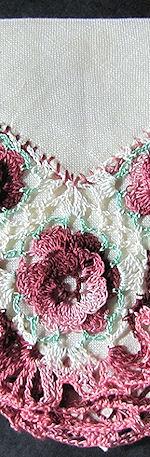 irish linen hanky irish lace flowers