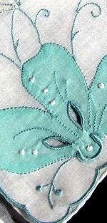 vintage embroidered handmade hanky