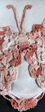 irish linen hankie handmade figural lace