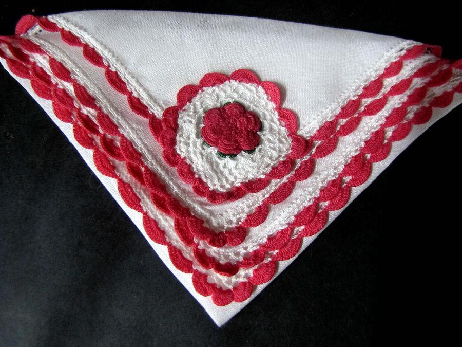 vintage antique irish linen handmade lace hanky