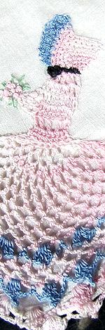 irish linen hanky handmade figural lace