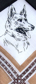 German Shepherd hanky