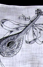 vintage designer hanky mandolin