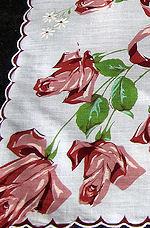 vintage hanky for floral print