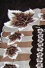 vintage  leaf print hanky