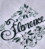 vintage hanky monogrammed Florence
