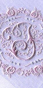 vintage monogrammed J hanky