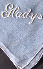 vintage hanky monogrammed Gladys