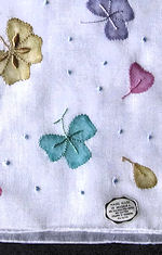 vintage embroidered hanky with handmade applique
