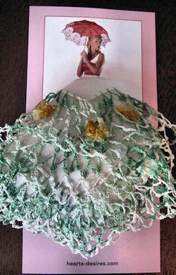hanky gift card with vintage irish linen hankie
