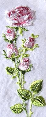 vintage silk embroidered hanky