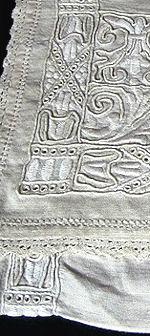 vintage antique lingerie bag hand embroidered Italian