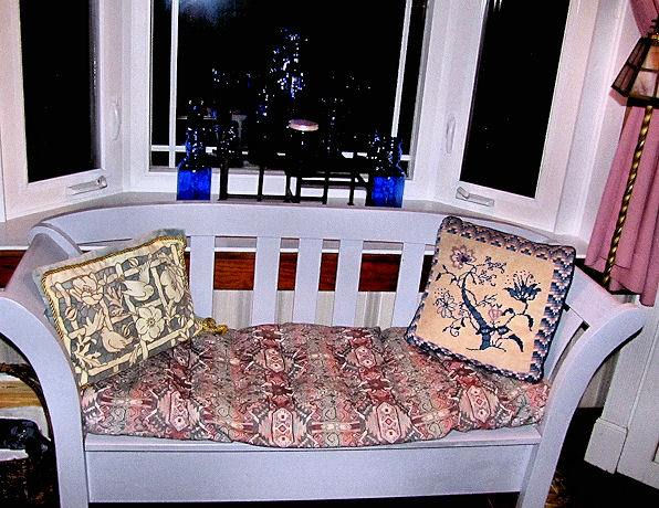 vintage tapestry seat cover figural lace needlepoint pillow fronts