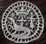 vintage antique linens, lace hankies handmade figural lace doily
