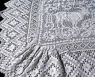 vintage figural lace popcorn bedspread