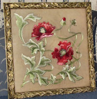 framed society silk for vintage pillow cover