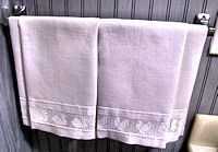 home decorating vintage textiles huck linen towels