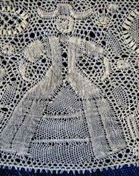 antique vintage needle arts illus. binche lace