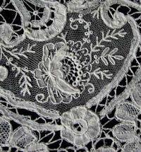 antique vintage needle arts illus. brussels lace