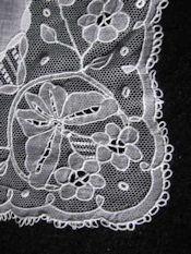 antique vintage needle arts illus. carrickmacross lace applique