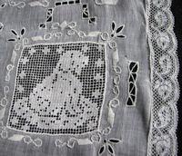 antique needle arts figural lace combination