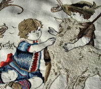 antique needle arts embroidered picture