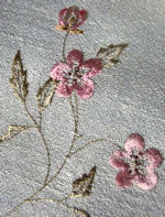 society silk embroidered table runner