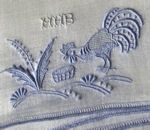 vintage Madeira rooster cocktail napkins