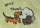vintage cocktail napkins embroidered beer hound