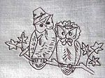 vintage cocktail napkins owls 4