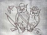 vintage owls cocktail napkins 1
