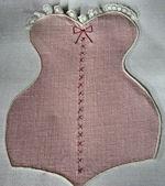 vintage cocktail napkins lady's figure shape
