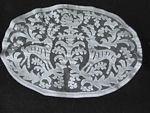 vintage antique figural lace doily